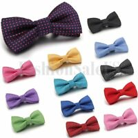 Classic Fashion Children Boys Adjustable Tuxedo Wedding Party Bow Tie Necktie