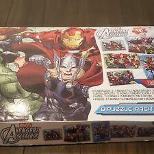 Marvel Avengers Assemble 8 Puzzle Pack - Complete Floor Puzzles Superheroes