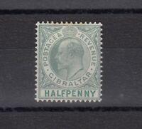 Gibraltar KEVII 1903 1/2d MLH JK700