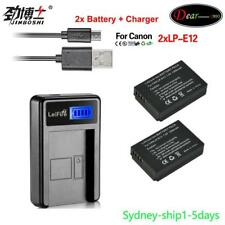 2xLP-E12 Battery+LCD1 Charger for Canon EOS M EOS 100D Rebel SL1 Kiss X7 AU-ship