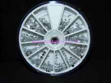 8cm Silver Clear Mixed Shape Nail Art Gems Jewels Design Craft for Nails