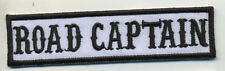road captain patch badge car club motorcycle biker MC vest jacket white black