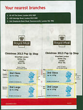 MA13+MA12 2nd/2nd LARGE PAIRS WESTFIELD XMAS 2013 POP UP SHOP + FLYER POST & GO