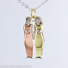 Mima & Oly Two Sisters Necklace - Family Sister 2 Girlfriends Siblings Gift NEW