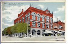 1917 First National bank building of Barnsville Ohio Vintage postcard   181