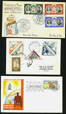 MONACO 1956 SIX FDC'S ALL WITH DIFFERENT CACHETS
