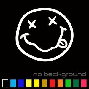 Nirvana Smiley Face Sticker Vinyl Decal - Mgk Kurt Cobain Music Car Window Rock