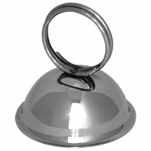 Olympia Ring Menu Card Holder Stainless Steel