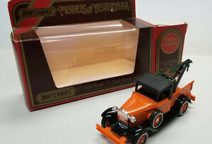 """Y-7 1930 Model """"A"""" Ford Wreck Truck'; Matchbox 1978 Models of Yesteryear, Boxed"""
