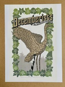 The Decemberists 2007 Concert Tour Poster Mike King