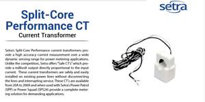 Setra CT-SCP-100 Split-Core Performance CTCurrent Transformer