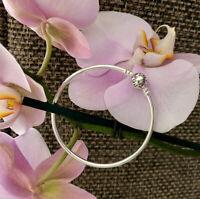 """Pandora Bangle Bracelet Sterling Silver Size 7.5"""" / 19 cm, #590713"""