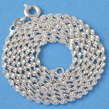 Classic 9k White Gold Filled Ladies Necklace Double Water Wave 450*3mm F6037