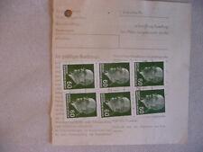 """DDR Paketkarte MEF 6x 60 Pfg Ulbricht Poststelle """"(11) Wittenberg Lutherstadt"""""""