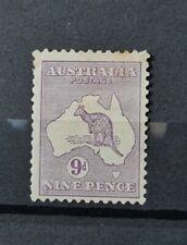 More details for australia sg 27 9d value wmk w5 large crown m/mint