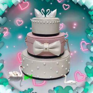 KATE SPADE WEDDING BELLES 3d SWAN CAKE CLUTCH