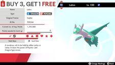 ✨ Shiny Latios ✨ Legendary Pokemon Sword and Shield Perfect IV Pokémon