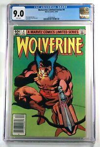 WOLVERINE LIMITED SERIES #4 (Marvel) 1982 💥 CGC 9.0 White 💥