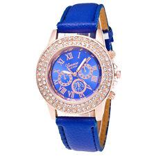 Ladies Womens Bracelet Stainless Steel Crystal Diamonds Analog Quartz WristWatch