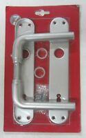 Maniglia x porta placca foro chiave realizzato in alluminio colore argento 804