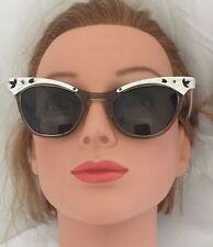 TRUE Vintage Petite 50's CAT EYE Plastic EYEGLASSES Sunglasses FRAME P.O.P