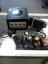 --Black Nintendo Gamecube Game Cube Video Game Console System---