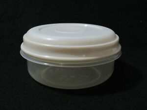 Rubbermaid Servin Saver ALMOND lid sheer Containers Round  #1 - 14oz