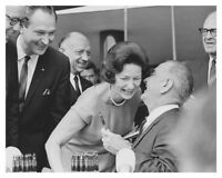 Lyndon B Johnson Handing Lady Bird A Bill Signing Pen 8 x 10 Silver Halide Photo