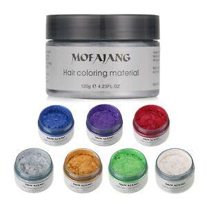 7 Set Unisex DIY Hair Color Wax Mud Dye Cream Temporary Modeling Colors Mofajang