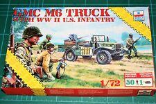 ESCI 1/72 GMC M6 TRUCK with ww2 U.S.Infantry kit 8610 Relesead around 1987