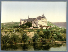 Ahrtal. Kloster Kalvarienberg. PZ vintage photochromie, Deutschland photochrom