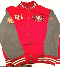 NFL collection Sf mens varsity jacket red grey color size XL San Francisco