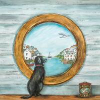 Ready Framed Canvas 30x30cm Dog and Anchor Joe Ramm
