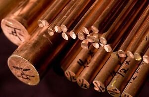 Copper Round Bar / Rod - 5mm to 60mm Diameters- Various Lengths Available