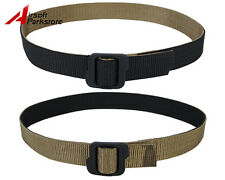 Airsoft Tactical Outdoor Double-sided Duty Nylon Belt Black & Coyote Brown M