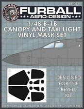 Furball Aero-Design 1/48 Rockwell B-1B Canopy and Taxi Light Masks # FMS019
