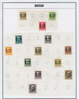 BAYERN: OVER 200 MOSTLY MINT STAMPS FROM • 1920s • GERMAN STATE OF BAVARIA