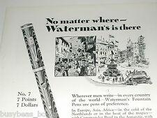 1929 Watermans advertisement, Fountain Pen, Watermans No. 7 pen