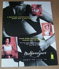 1997 vintage ad page - Bestform Sport bra - Sexy Girl lingerie PRINT advertising