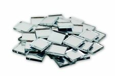1/2 Inch Mini Small Square Glass Craft Mirrors Bulk 100 Pcs Mirror Mosaic Tiles