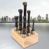 "9pcs 3/8"" Round Shank Boring Bar Set High-speed Steel Lathe Tools High Quality"