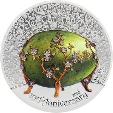 Mongolia 2020 1000 Togrog - Peter Carl Fabergé – 100th Ann. - 2 Oz Silver Coin
