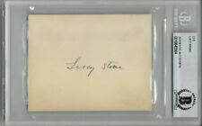 LUCY STONE SIGNED CARD WOMEN'S RIGHTS ACTIVIST SUFFRAGETTE VERY RARE BECKETT BAS