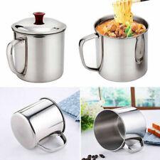 480ml Stainless Steel Travel Camping Mug Drinking Beer Handle Tea Cu Coffee N8T0