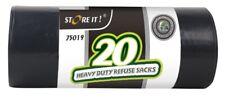 20 x Heavy Duty Garden Refuse Sack Rubbish Black Trash Bag