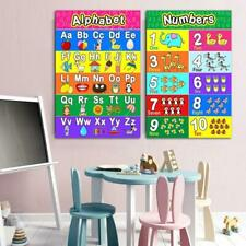 Laminated Preschool Poster for Toddlers and Kids 2 Pieces Full Alphabet Posters