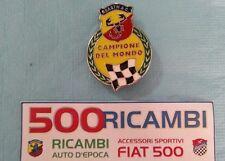 FIAT 500 F/L/R STEMMA SCRITTA LOGO ABARTH LATERALE CAMPIONE DEL MONDO SMALTATO