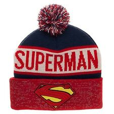DC Superman Reflective Cuff Beanie Hat NEW IN STOCK