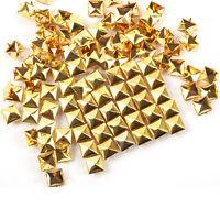 100pcs DIY 4size Square Pyramid Rivet Metal Studs Spots Spikes Punk Leathercraft