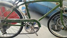 1967 SCHWINN STINGRAY CAMPUS GREEN FASTBACK RAMS HORN  5 SPEED FRAME FORK GUARD